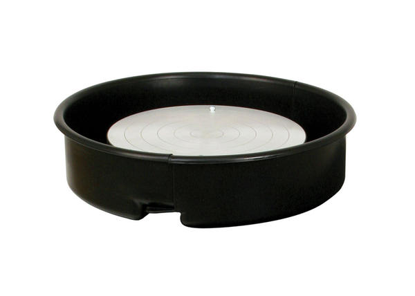 Brent Pottery Wheels Black Splash Pan