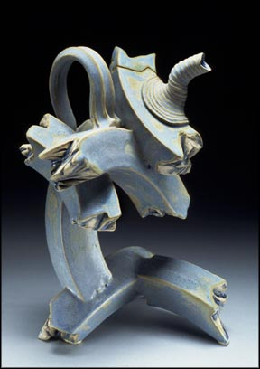 Ray Bub: SkyBlue Torn Ends Tea Pot