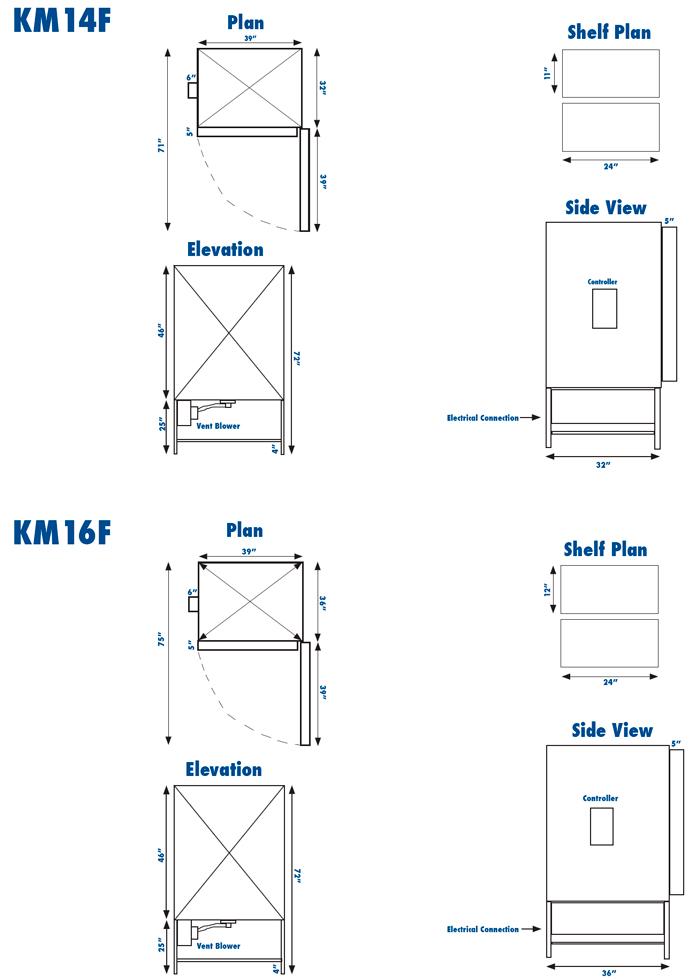 skutt front loader series electric kilns
