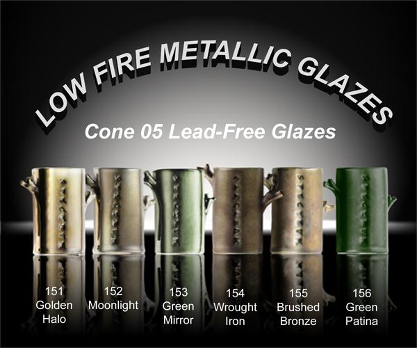 Spectrum Low-fire Metallic Pottery Glazes