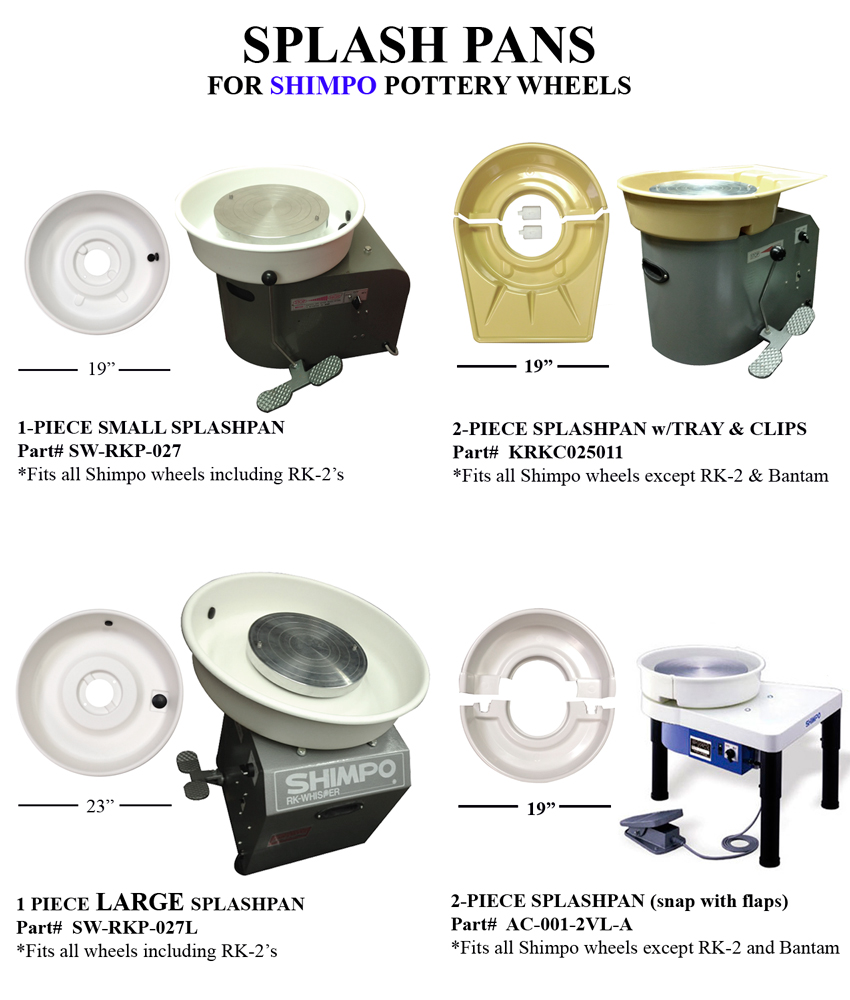 Order Shimpo Pottery Wheel Splash Pans From Sheffield