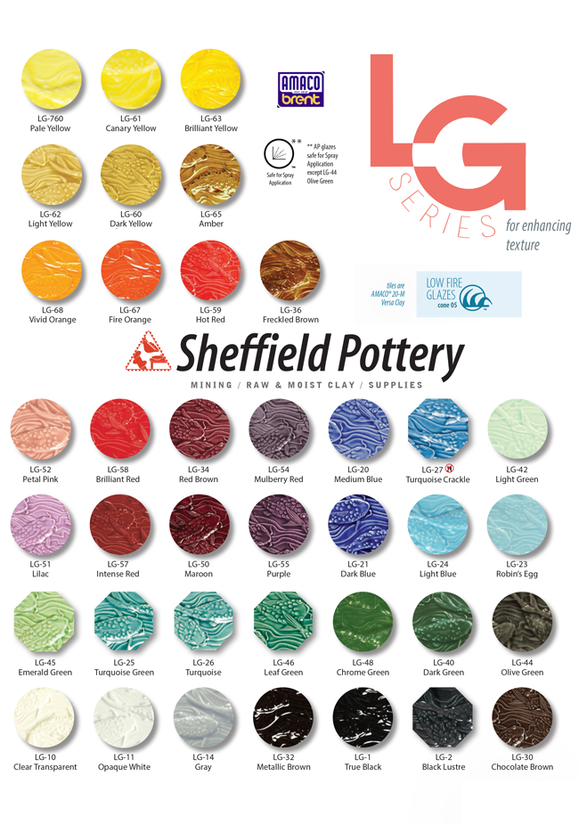 Amaco LG Low Fire Glazes Sheffield Pottery