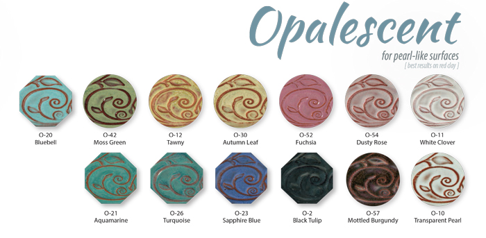 amaco opalescent low-fire glazes