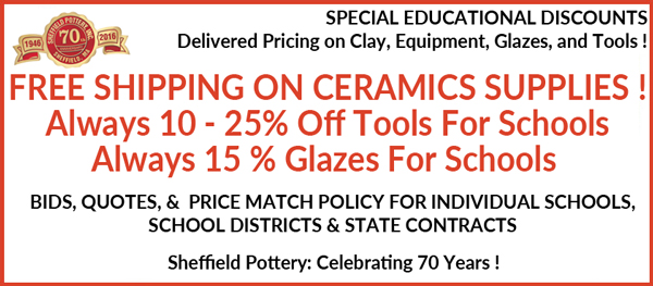 School ceramics supplies