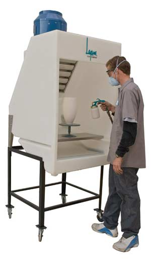 Laguna Spray Booth with Optional Leg Set