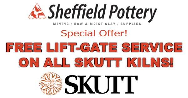 Free Lift-gate service on Skutt Kilns