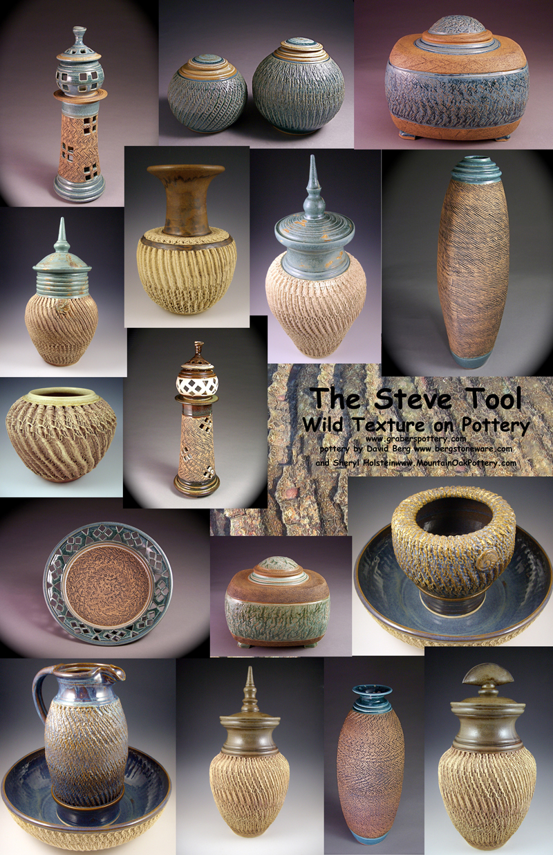 Steve tool pottery texturing