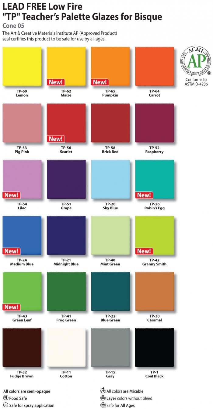 Amaco Teacher's Palette Glazes