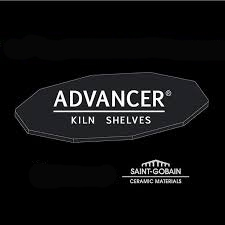 "Advancer Kiln Shelf 12 x 12 x 5/16"" Nitride Bonded Silicon Carbide"